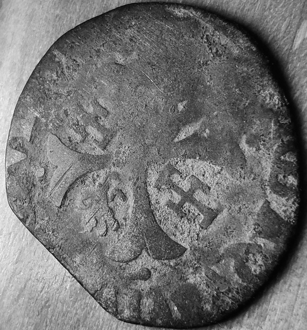 Comtat-Venaissin Clément VIII Douzain d'Octavio Aquaviva Légat en Avignon en 1594 Revers38