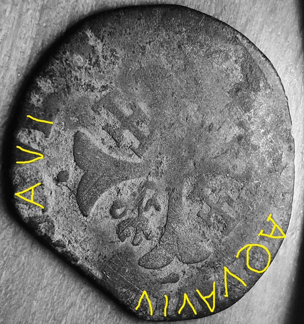 Comtat-Venaissin Clément VIII Douzain d'Octavio Aquaviva Légat en Avignon en 1594 Revers41