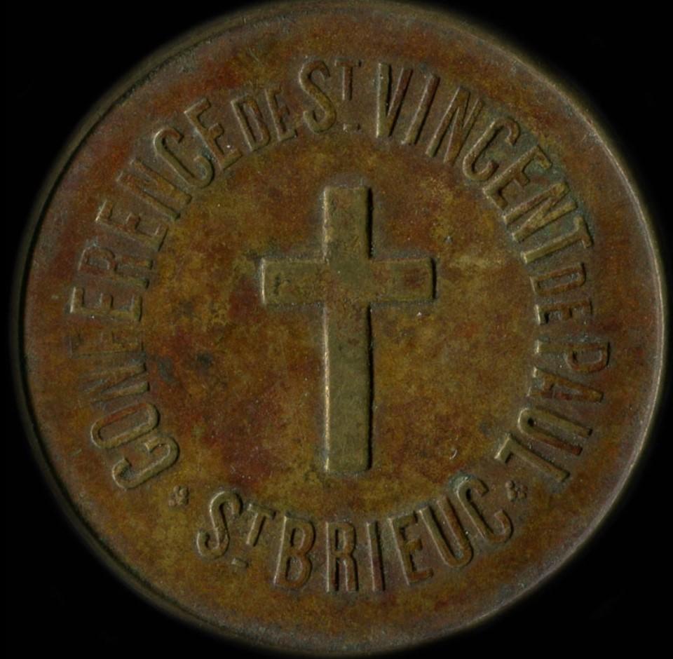 jeton  kgs de Pain en cuivre émis par Conférence de St-Vincent de Paul QUINTIN Saint_10