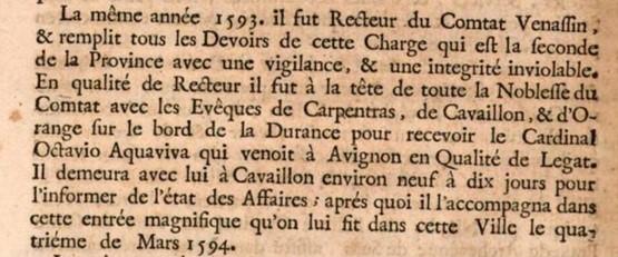 Comtat-Venaissin Clément VIII Douzain d'Octavio Aquaviva Légat en Avignon en 1594 Texte_10
