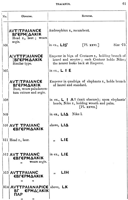Probablement monnaie provinciale de Trajan, Alexandrie, an 14 du règne, au quadrige d'éléphants Trajan10