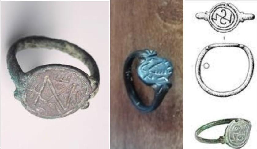 Possible intaille antique (pâte de verre) réemployée sur bague d'époque mérovingienne ? Trois10