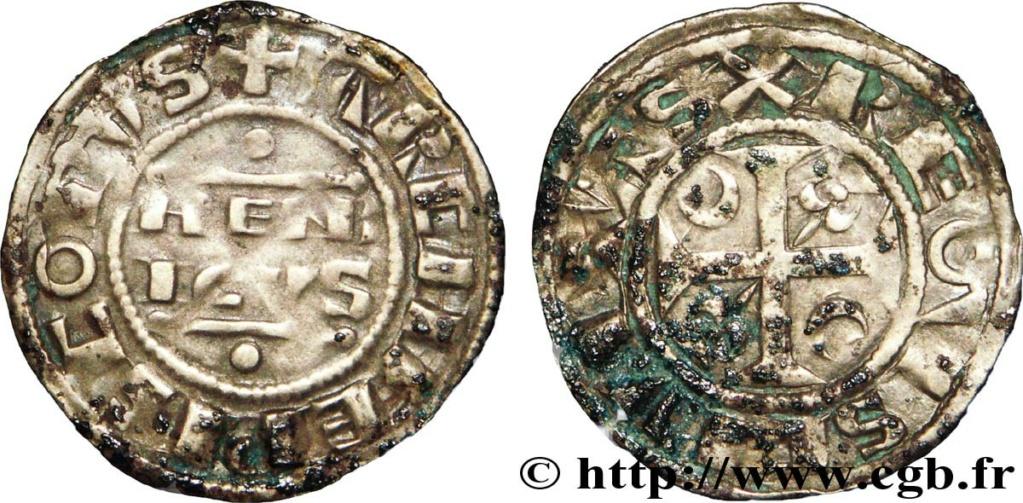 Denier champenois de l'archevéché de Reims pour Henri II (1227-1240) ... V39_0610
