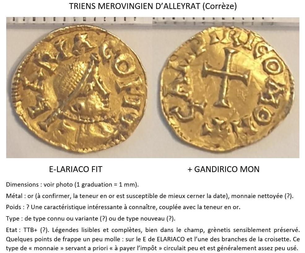 Trien méro d'Alleyrat (Elariaco) Corrèze (19), Landericvs monétaire ... Vue10