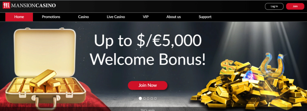 mansion casino get 5000 welcome package