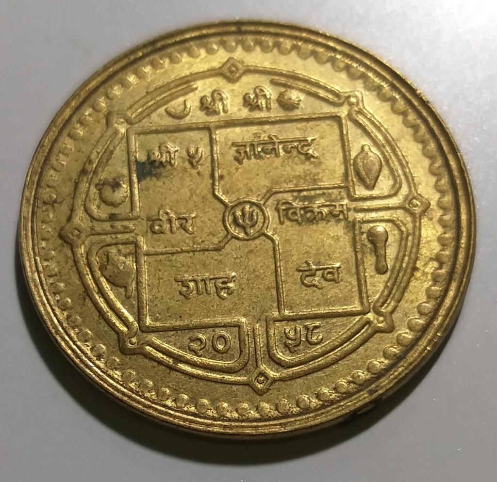 2 Rupias. Nepal (2001) 51 Día Nacional de la Democracia Asia_210