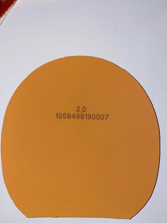 Vends Tibhar vari spin D Tecs rouge 2,0mm 19490910