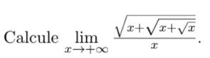 Limites com Raiz no denominador e numerador 212