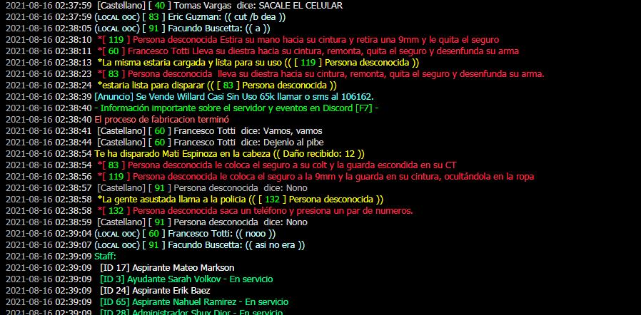 DM + MG [Francisco totti + Tomas Vargas + Eric Guzman + Facundo Buscetta + Jorge Camisa + Mati Espinoza] 2021-013
