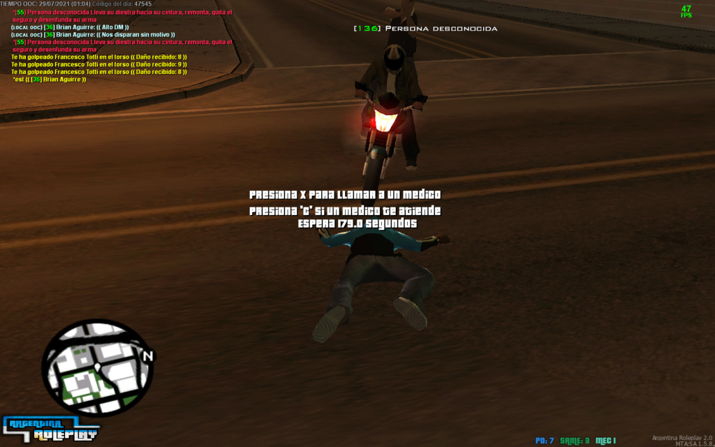 Reporte DM. (Matar sin motivo IC)    Reportado: Francesco Totti    Mta-sc10