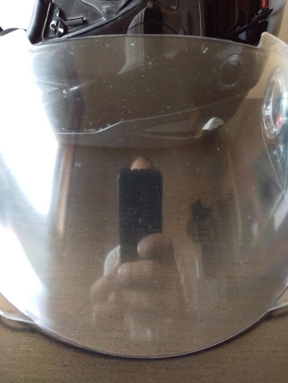 Como colar trim do capacete? E é possível reparar viseira em mau estado? Img_2010