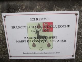 Plaque APN  sur la tombe du général François Chaubry de la Roche