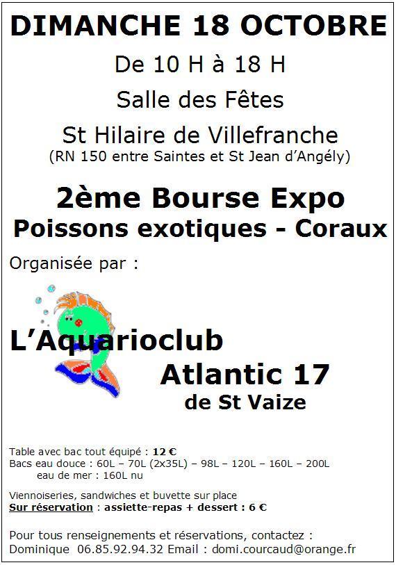 Bourse Aquariophile : St Hilaire de Villefranche le 18 octobre 2009 Affich14