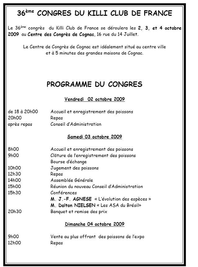 Congrès KCF (Killi club France) 2 au 4 oct 09 Cognac dep 16 Cognac10