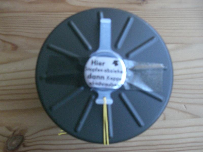 Reconditionnement d'un filtre de masque à gaz militaire Cimg6411