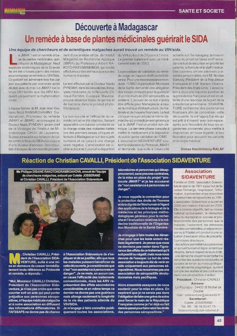 Article de presse sur Madagascar Magazine N°53 Articl10