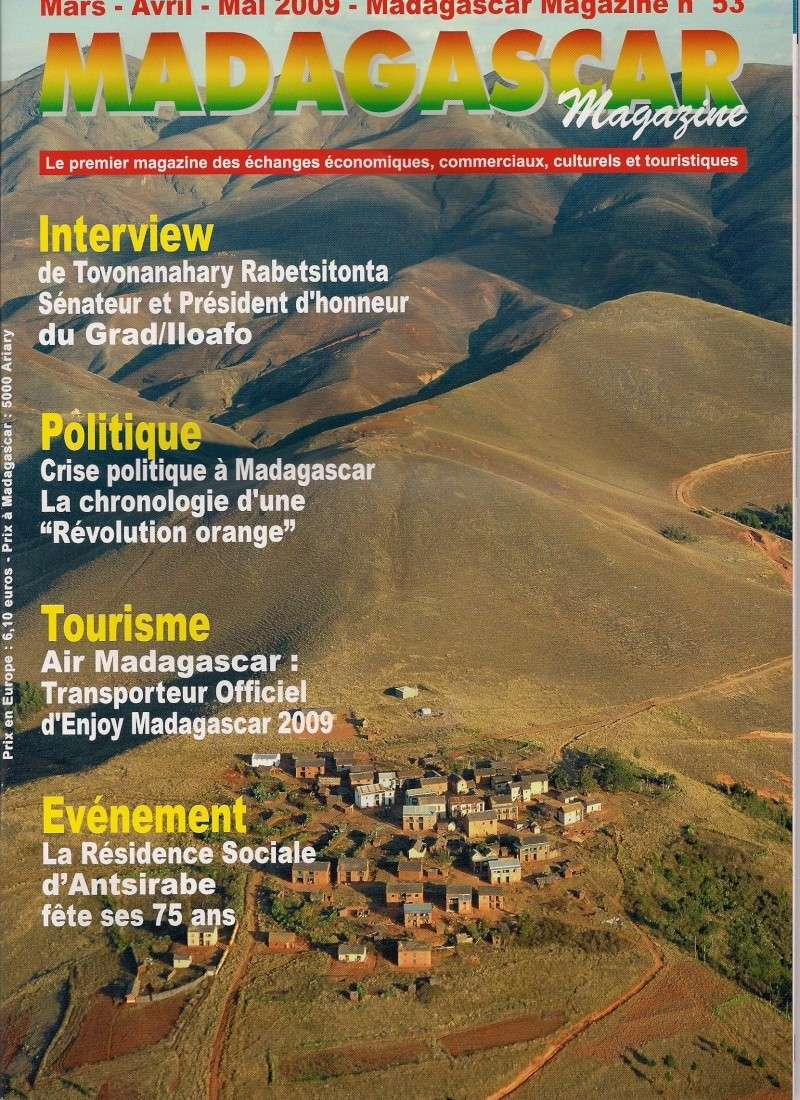 Article de presse sur Madagascar Magazine N°53 Couver10