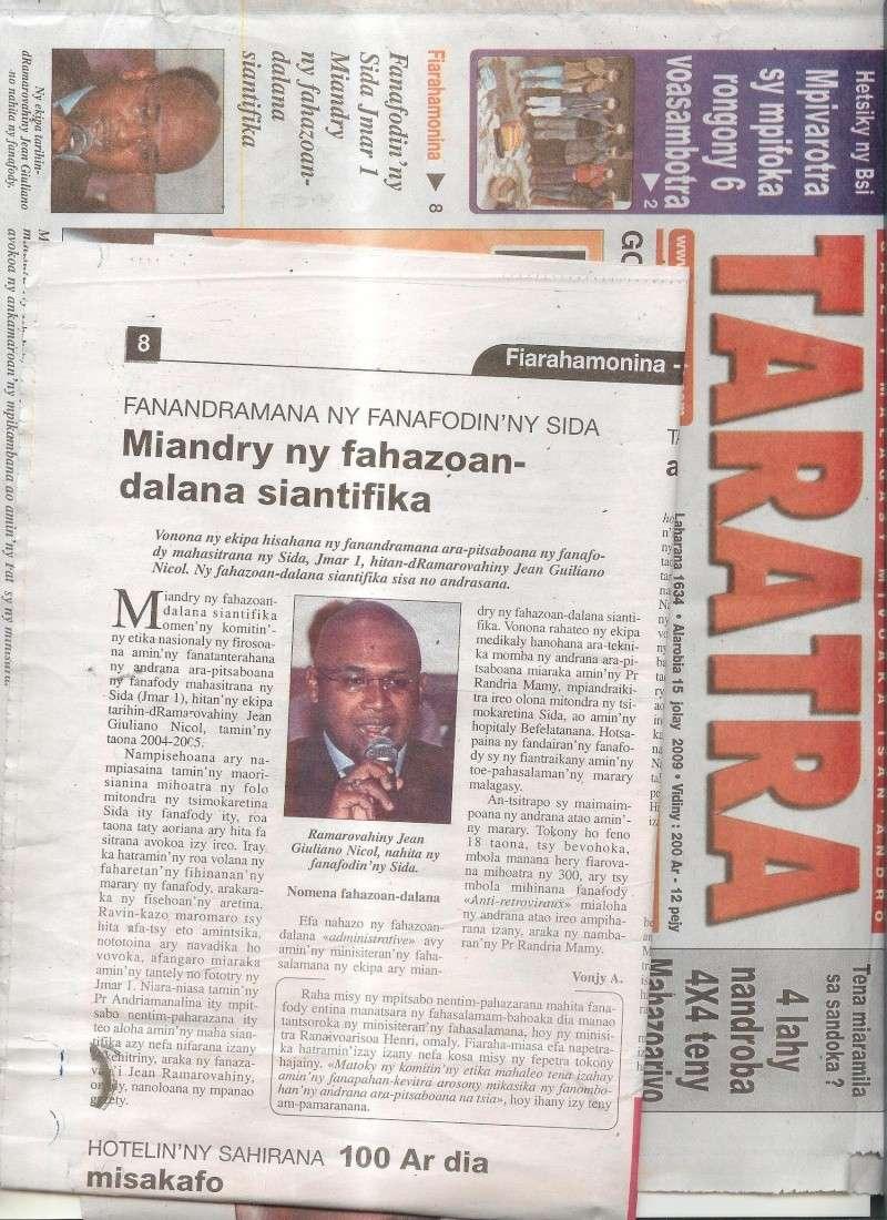 Les articles presse du 15.07.009 Taratr10