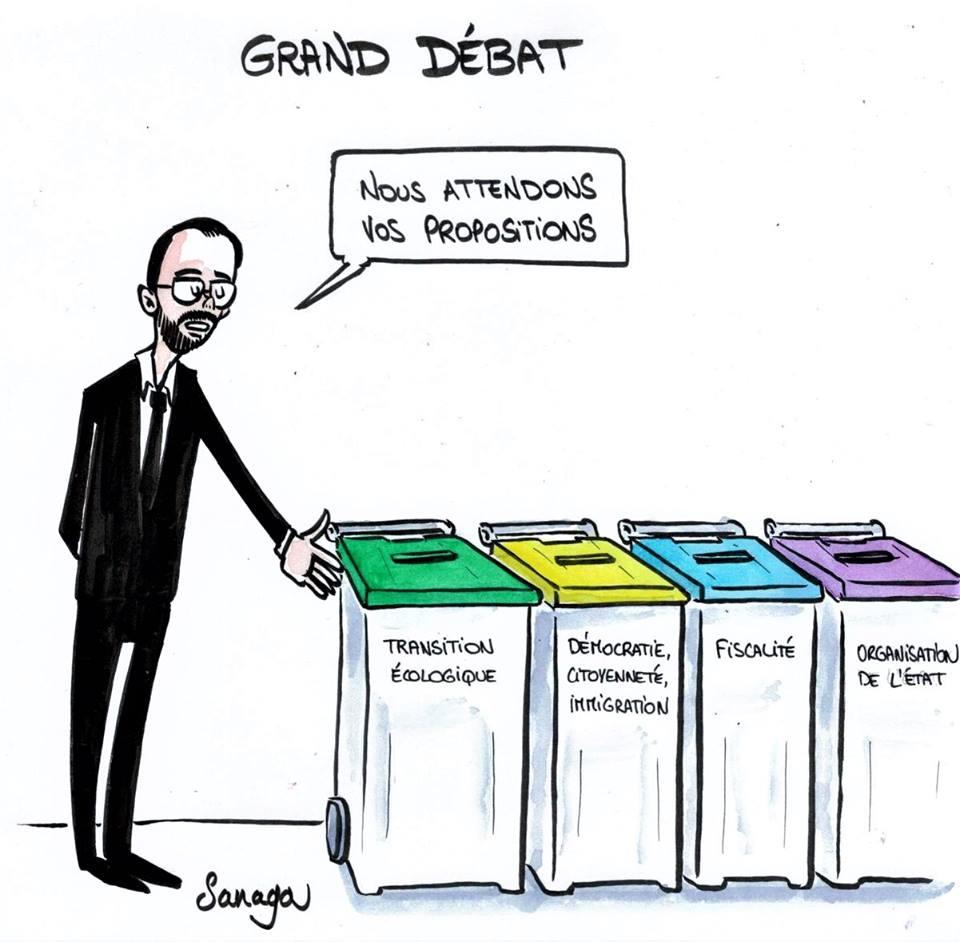 Le grand debat organisé par Macron Debat10