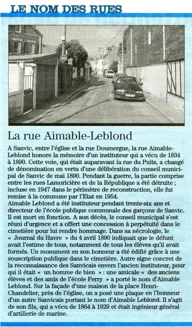 SANVIC - Sanvic - Rue Aimable-Leblond 2009-013
