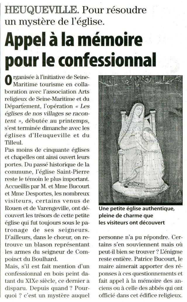 Heuqueville - Résoudre un mystère de l'église 2009-112