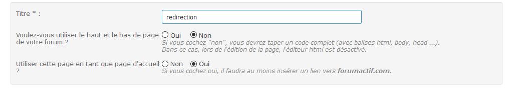 Soucis de redirection via une page HTML. 0111