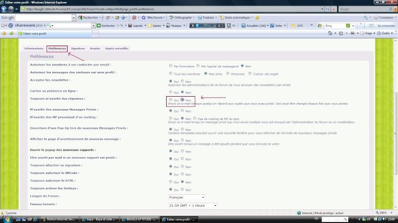 [Astuce] Ne plus être averti par mail des réponses aux messages Tuto110