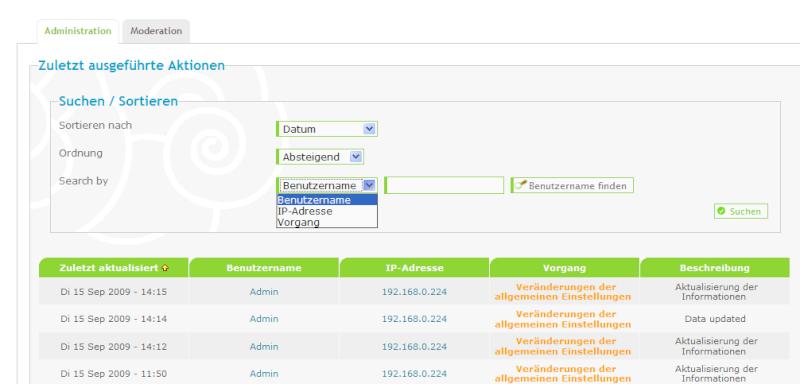 Erweiterte Usersuchfunktion (Sicherheit) Log_se10