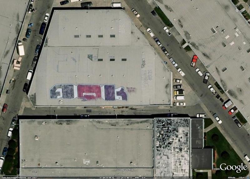 Tags sur les toits de San Francisco - Etats Unis d'Amérique Aqk10
