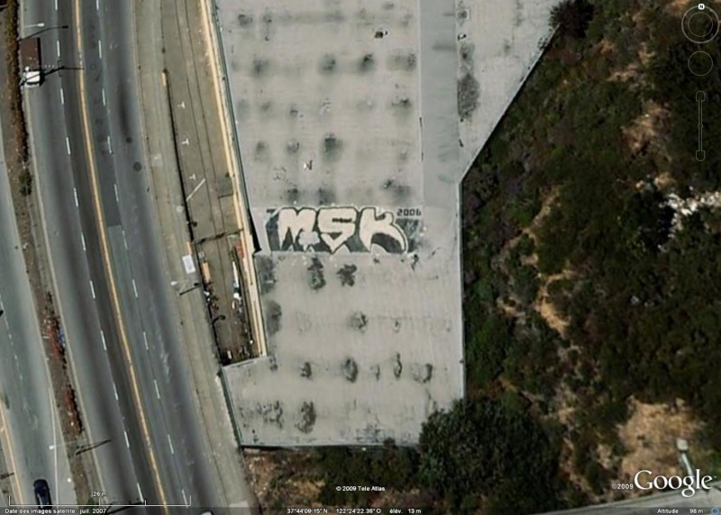Tags sur les toits de San Francisco - Etats Unis d'Amérique Msk10