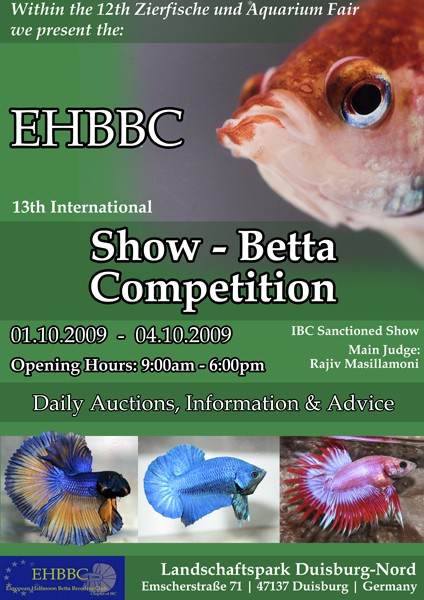 13th EHBBC Show-Betta Competition Duisburg 2009 Poster11
