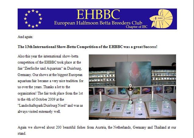 13th EHBBC Show-Betta Competition Duisburg 2009 Showre10