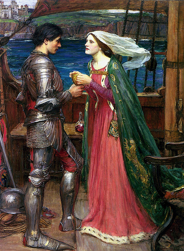 Illustrations de personnages des légendes Arthuriennes Isolde10