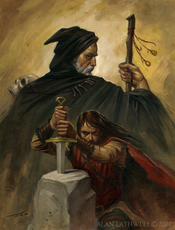 Illustrations de personnages des légendes Arthuriennes Merlin10