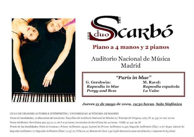 Dúo Scarbó en el Auditorio Nacional Scarbo15