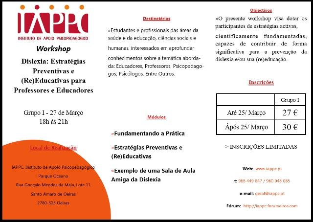 DISLEXIA: ESTRATÉGIAS PREVENTIVAS E (RE)EDUCATIVAS Sem_ta10