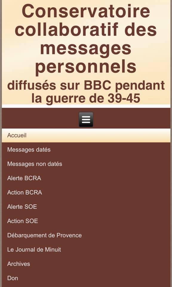 Conservatoire collaboratif des messages personnels diffusés par la BBC 39 - 45 Conser10