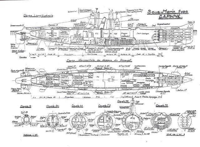 Sous-marin classe Daphné (scratch demi-coque 1/50°) par demicoque Plan_d10