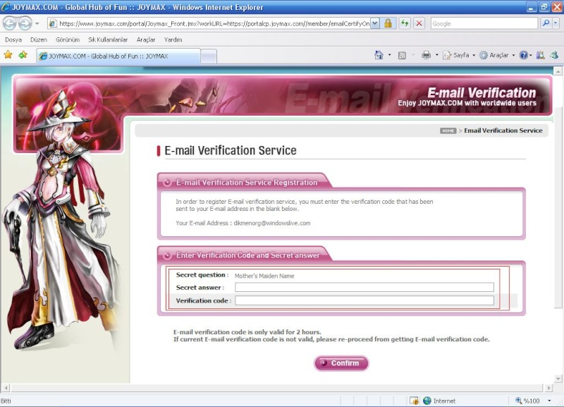 Charlara e-mail koruması yapılması [Resimli anlatım] E10