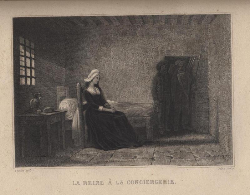 La Conciergerie : Marie-Antoinette dans sa cellule. 0111311