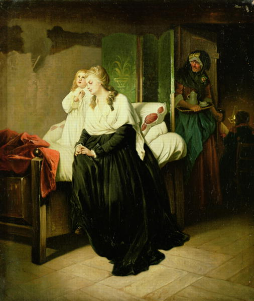 La Conciergerie : Marie-Antoinette dans sa cellule. 2043210