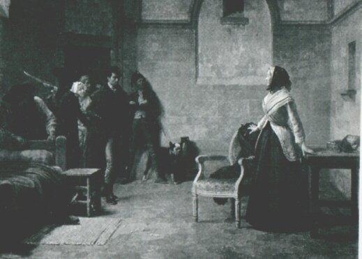 La Conciergerie : Marie-Antoinette dans sa cellule. 25520310