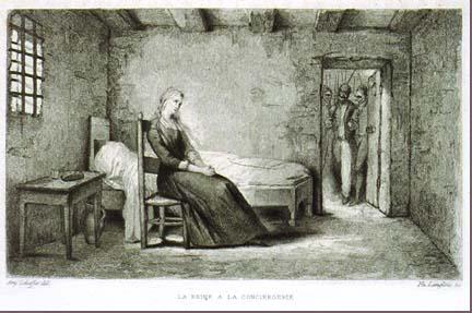 La Conciergerie : Marie-Antoinette dans sa cellule. 32510