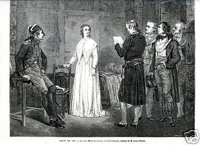 La Conciergerie : Marie-Antoinette dans sa cellule. 489b_110
