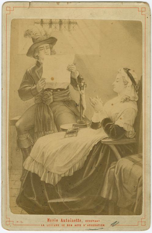 La Conciergerie : Marie-Antoinette dans sa cellule. Acte_a10