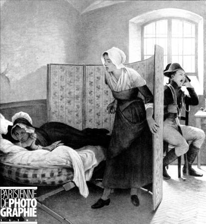 La Conciergerie : Marie-Antoinette dans sa cellule. D_apra10