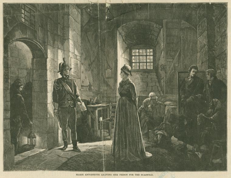 La Conciergerie : Marie-Antoinette dans sa cellule. Dapart11