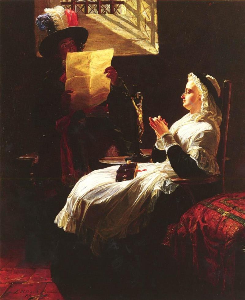 La Conciergerie : Marie-Antoinette dans sa cellule. Edward13