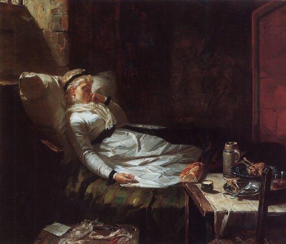 La Conciergerie : Marie-Antoinette dans sa cellule. Edward14