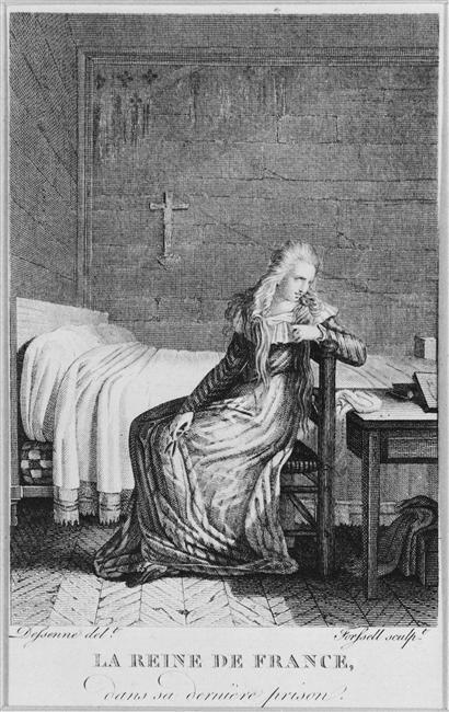 La Conciergerie : Marie-Antoinette dans sa cellule. Forsel10
